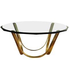Roger Sprunger Style Cocktail Table by Tri-Mark in Gold