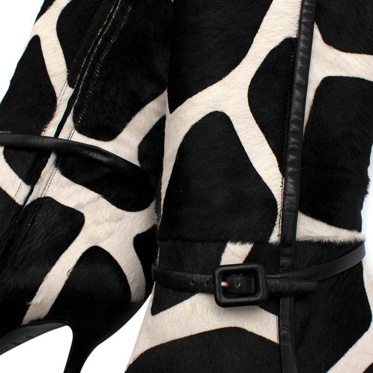 Roger Vivier Giraffe Print Calf Hair Heeled Knee Boots 40 For Sale 4