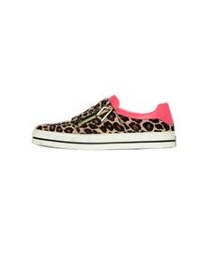Roger Vivier Leopard Print Sneaky Viv Calf Hair Sneakers sz 38 rt $1,050