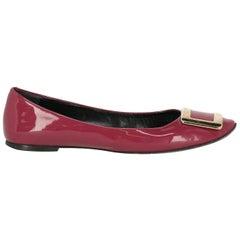 Roger Vivier Woman Ballet flats Purple Leather IT 39.5