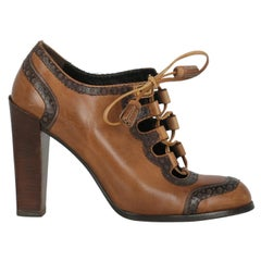 Roger Vivier Women  Ankle boots Brown Leather IT 36.5