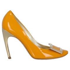 Roger Vivier Women  Pumps Yellow Leather IT 40