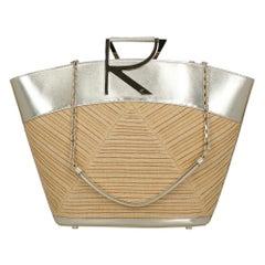 Roger Vivier Women's Handbags Beige/Gold Leather