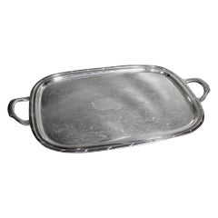 Rogers Antique Styled Silver Plated Engraved Serving Tray