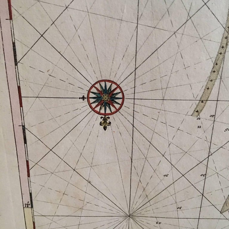 Roggeveen's Hand Colored Chart of Cape Cod and the Islands, 1675 In Excellent Condition For Sale In Nantucket, MA