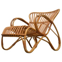 Rohe Noordwolde Low Back Bamboo Lounge Chair