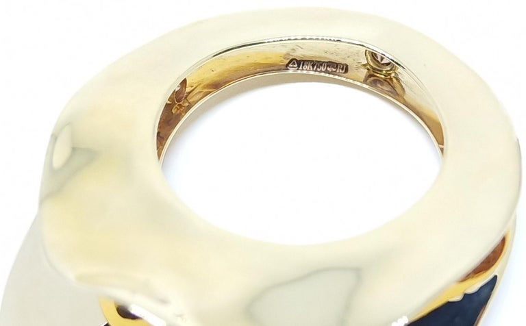 Contemporary Brown Diamond One of a Kind 18 Karat Yellow Gold Cocktail  Ring For Sale 5