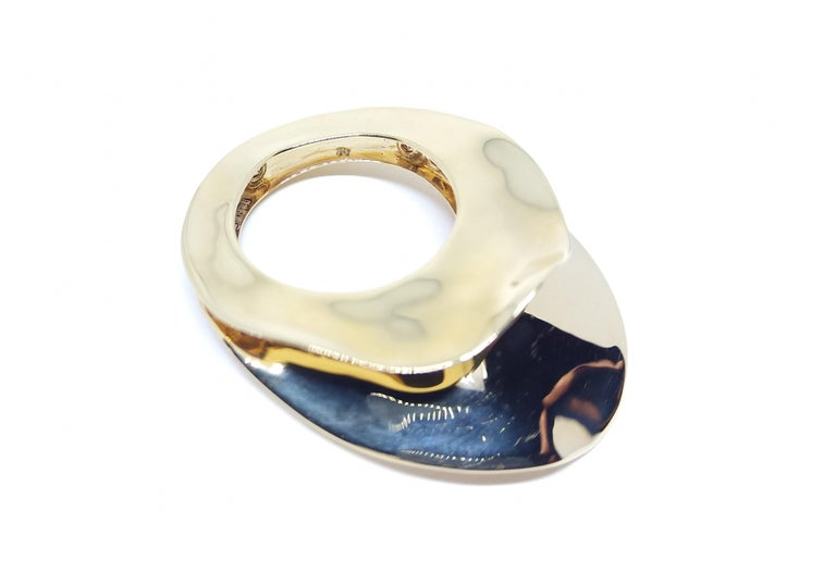 Contemporary Brown Diamond One of a Kind 18 Karat Yellow Gold Cocktail  Ring For Sale 3