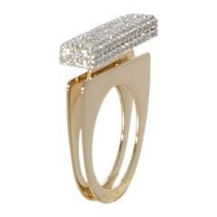 Round White Diamond One of a Kind 18 Karat Yellow Gold Ring