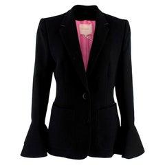Roksanda Black Riva Crepe Jacket - Size US6