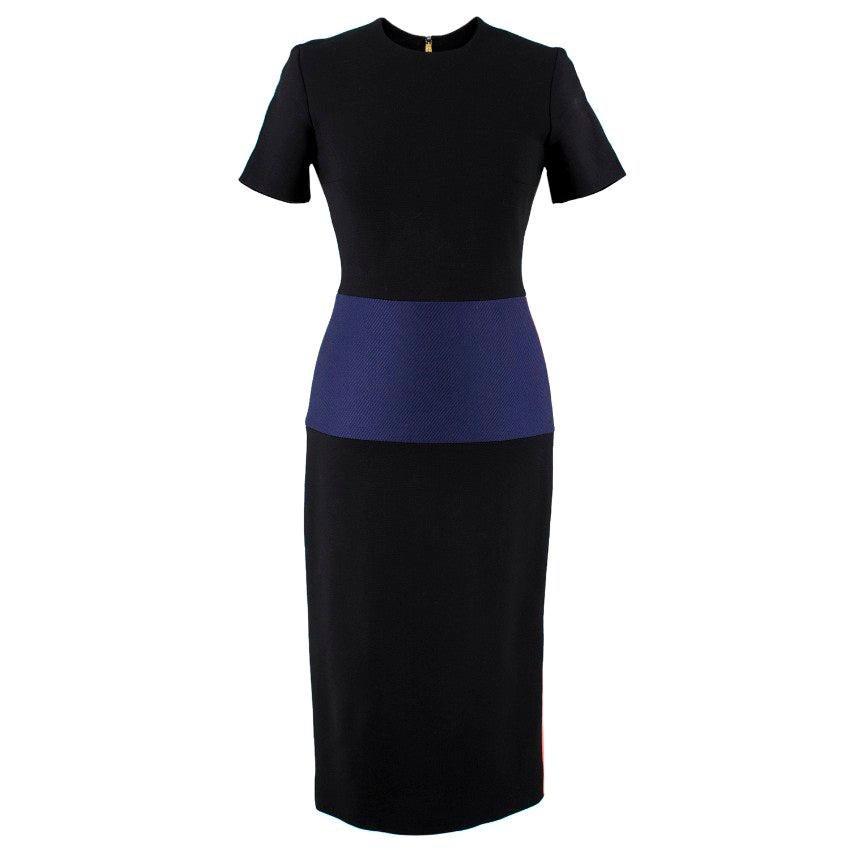 Roksanda Color Block Wool Blend Dress - Size US 2