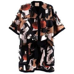 Roksanda Embroidered Jacquard Tie-Waist Jacket - Size US4