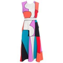 Roksanda Ilincic Colorblock Canvas Paneled Sleeveless Ossington Midi Dress M