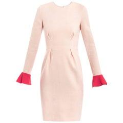 Roksanda Ilincic Izumi Two-Tone Wool-Crepe Dress