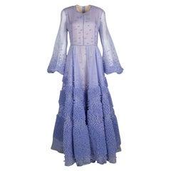 Roksanda Ilincic Limited Edition Lilac Silk Organza Bobble Viola  Gown M