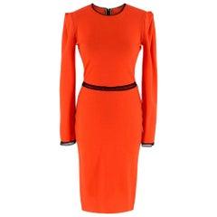 Roksanda Ilincic Orange Wool Long Sleeve Mini Dress - Size XS