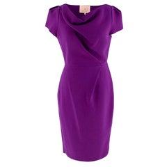 Roksanda Ilincic Purple Wool Short Sleeve Dress - Size US6
