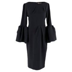 Roksanda Margot bell-sleeve cady dress SIZE 8