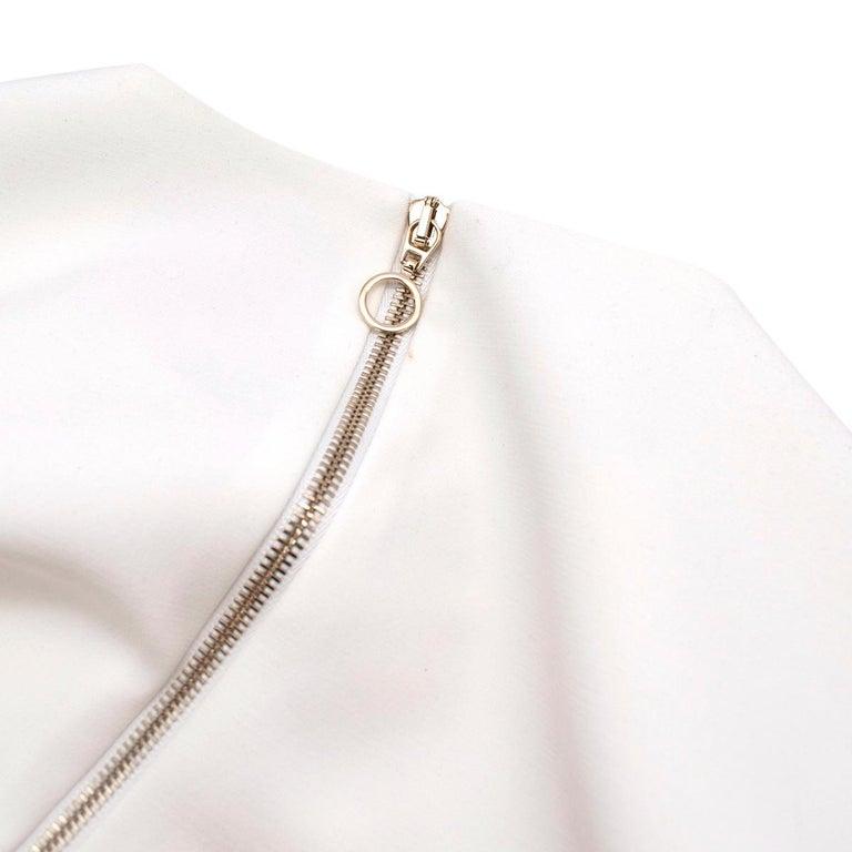 Roksanda Margot Ivory Bell-Cuff Cady Dress - US size 12 For Sale 5