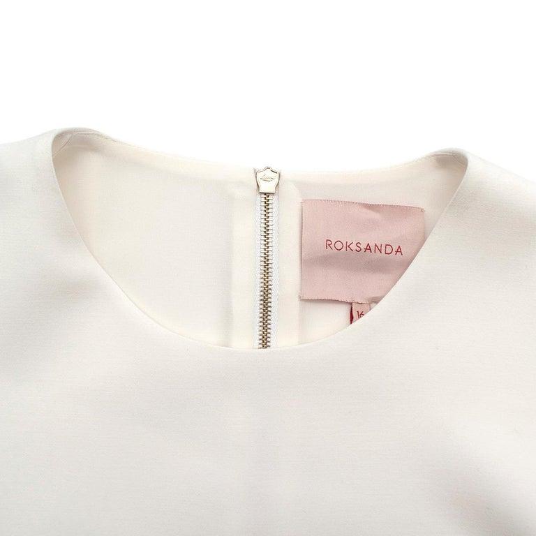 Women's Roksanda Margot Ivory Bell-Cuff Cady Dress - US size 12 For Sale