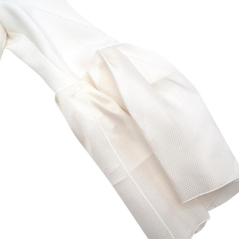 Roksanda Margot Ivory Bell-Cuff Cady Dress - US size 12 For Sale 2