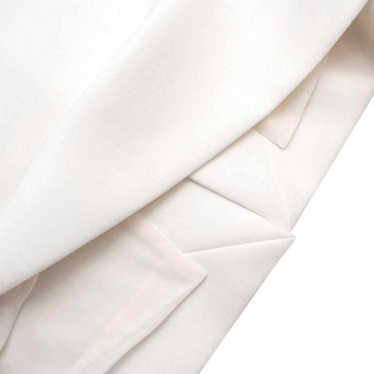 Roksanda Margot Ivory Bell-Cuff Cady Dress - US size 12 For Sale 3