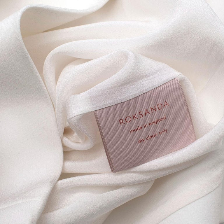 Roksanda Margot Ivory Bell-Cuff Cady Dress - US size 12 For Sale 4