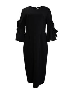 Roksanda NWT Lavete Bow Embellished Crepe Midi Dress sz 16 rt $1,490