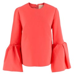 Roksanda Pink 'Truffaut' Bell Sleeve Crepe Top - Size Estimated S