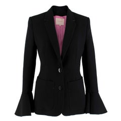 Roksanda Riva frilled-cuff crepe blazer 8