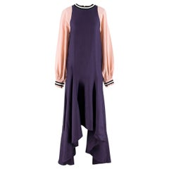 Roksanda Vasara Purple & Pink Silk-crepe Dress UK 10