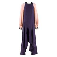 Roksanda Vasara Purple & Pink Silk-crepe Dress UK 10