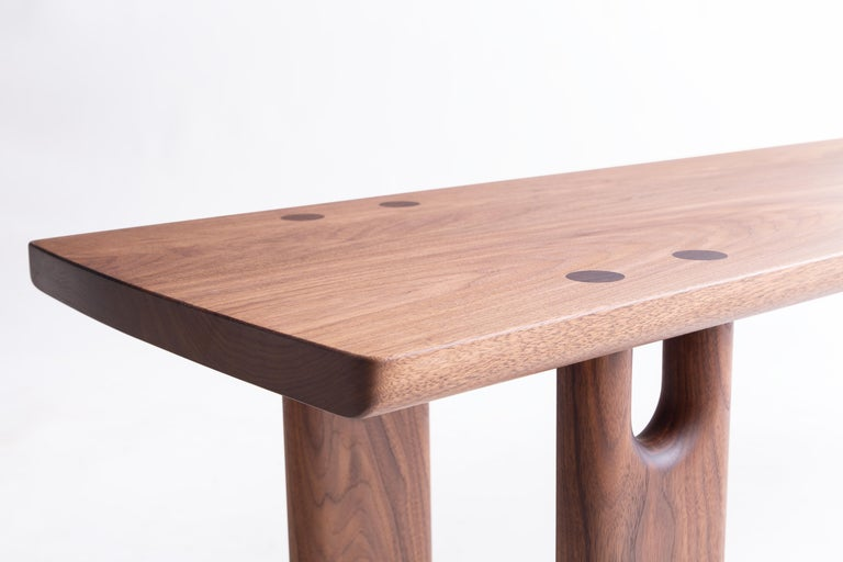 American Roland Bench, Solid Walnut, Customizable For Sale