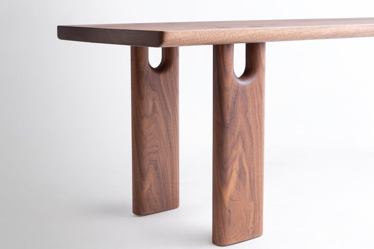 Joinery Roland Bench, Solid Walnut, Customizable For Sale