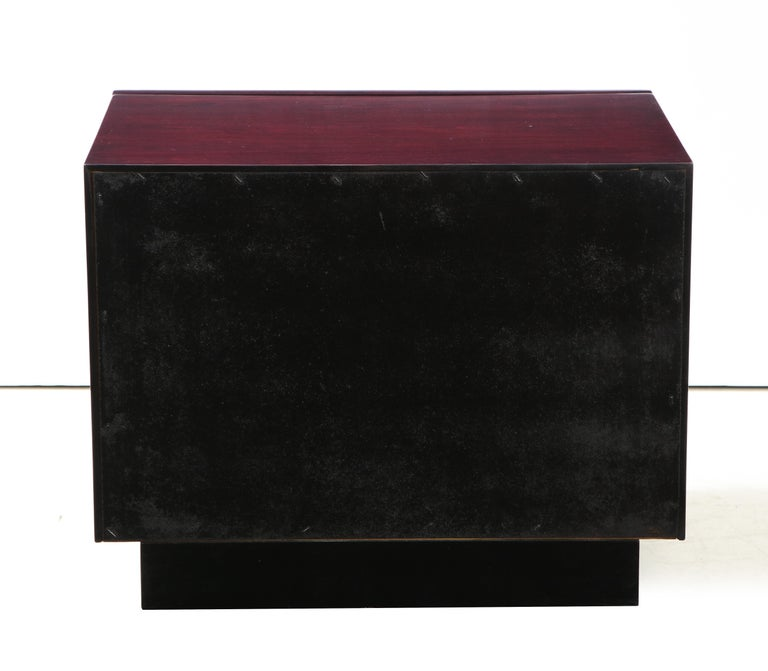 Roland Carter Red Wine Stained Burl Nightstands For Sale 3