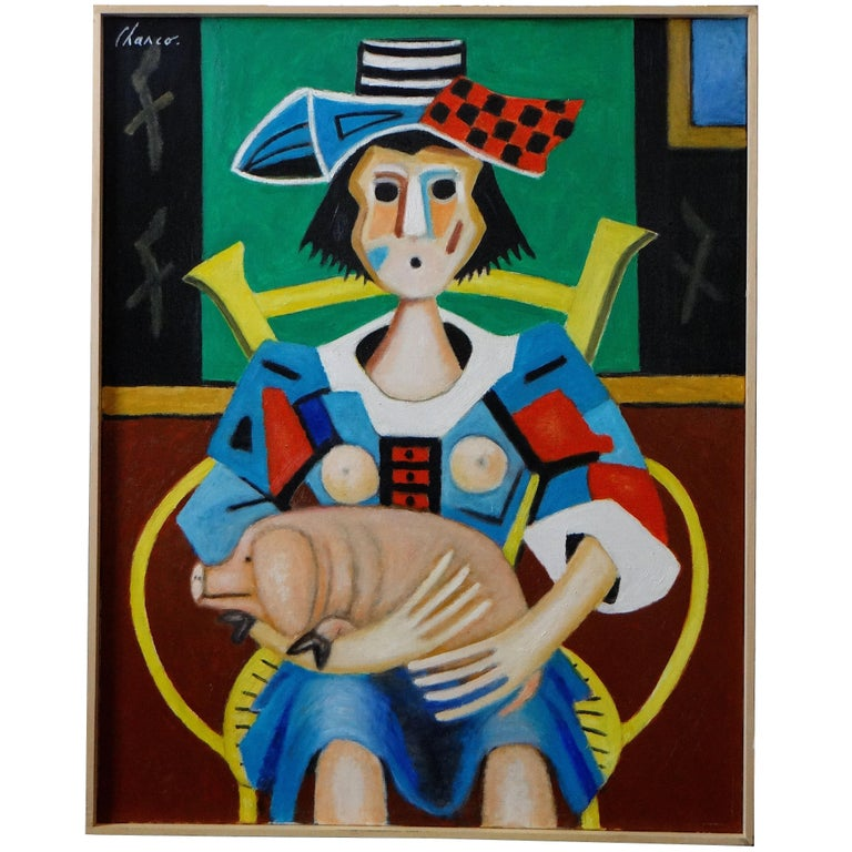 """Roland Chanco, Painting """"The Piglet"""", 2000 For Sale"""