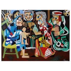 "Roland Chanco, Painting ""The Wise Men"", 2000"
