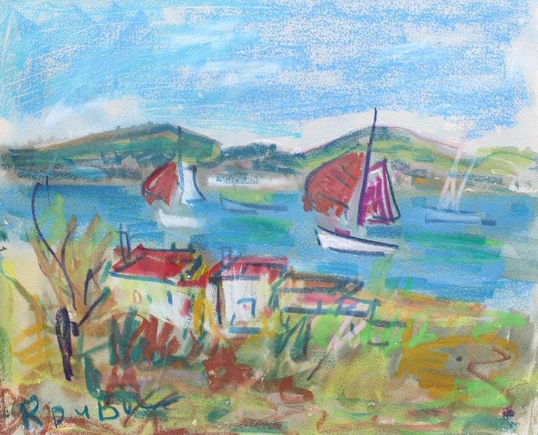Roland DUBUC Landscape Painting - French Riviera Scene II