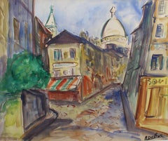 Montmartre View from Rue Lepic, Paris