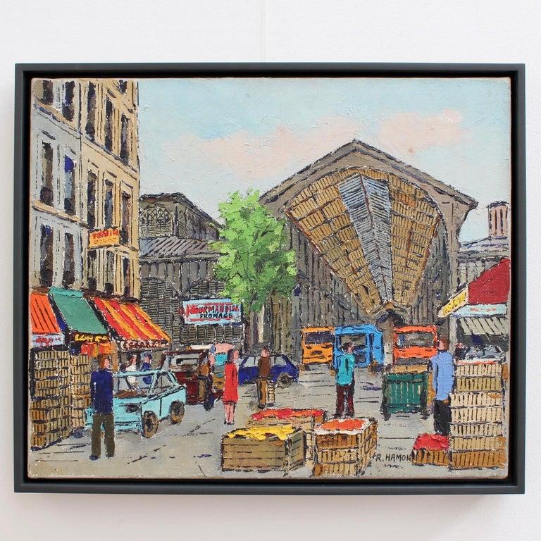 Les Halles Food Market - Painting by Roland Hamon