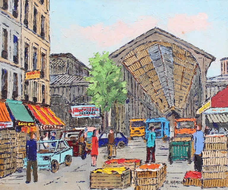 Roland Hamon Landscape Painting - Les Halles Food Market