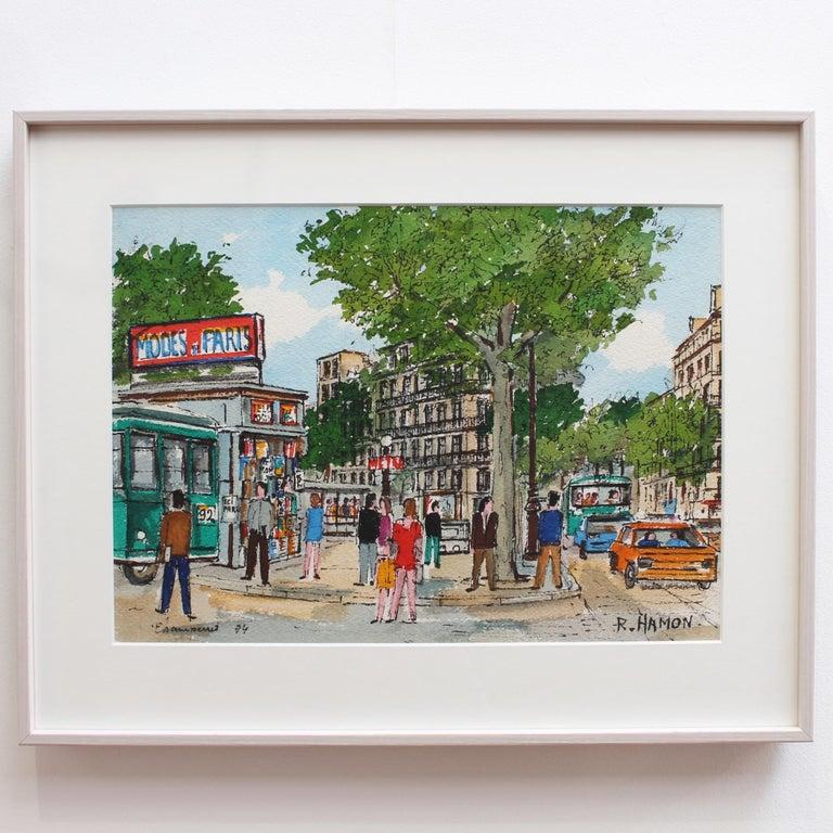 Paris Metro Station - Painting by Roland Hamon