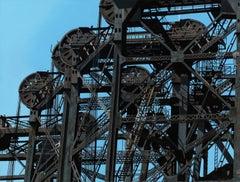 Calumet Double Lift II, Steel Bridges, Contemporary Photorealist Painting