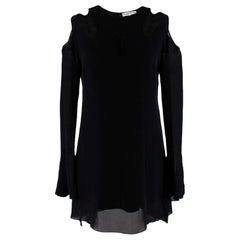 Roland Mouret Black Silk Cut-out Mini Dress - Size US6