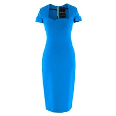 Roland Mouret for Selfridges Blue Owlerton Rear Zipper  Dress US 4