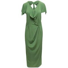 Roland Mouret Lime Draped Dress