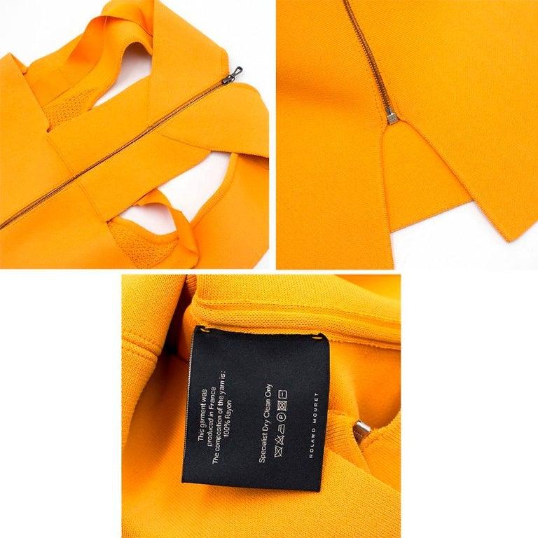 Roland Mouret Orange Bodycon Dress - Size US 4 For Sale 6