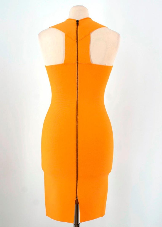 Women's Roland Mouret Orange Bodycon Dress - Size US 4 For Sale