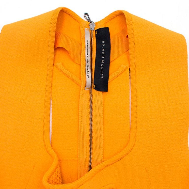 Roland Mouret Orange Bodycon Dress - Size US 4 For Sale 1