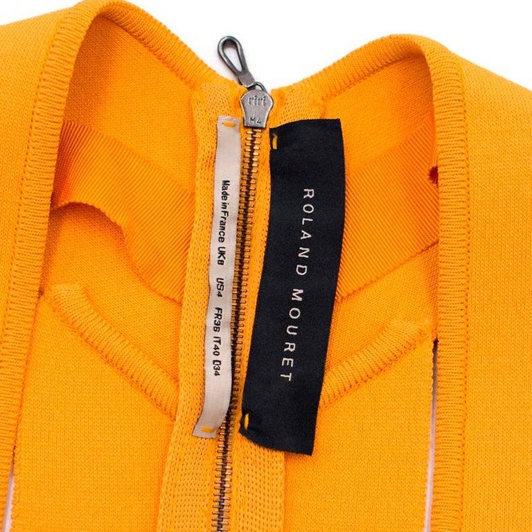 Roland Mouret Orange Bodycon Dress - Size US 4 For Sale 2